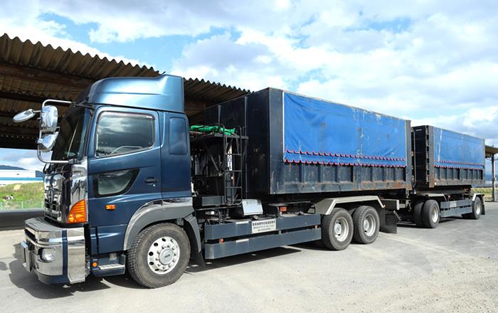 産業廃棄物運搬フルトレーラー車両